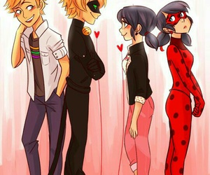ladybug, Adrien, and Chat Noir image