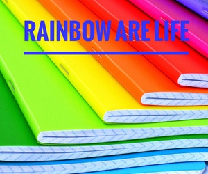 easel and rainbows image