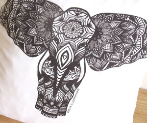 coloring, diy, and elephant image