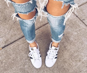adidas, goals, and jeans image