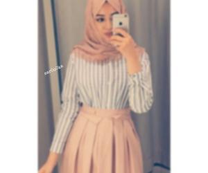 beauty, hijab, and selfi image