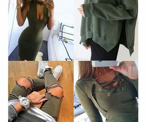 cool, girls, and olive green image