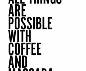 coffee, make up, and motivation image