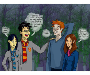 harry potter, twilight, and edward cullen image