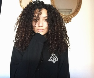 curly, instagram, and girls image