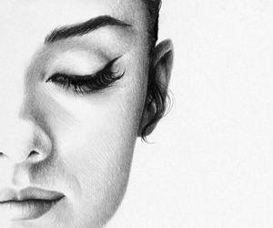 art, drawing, and audrey hepburn image