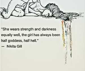 girl, sexy, and strength image