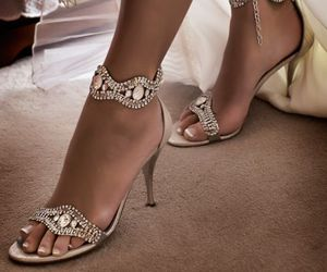 embellished, luxe, and wedding shoes image