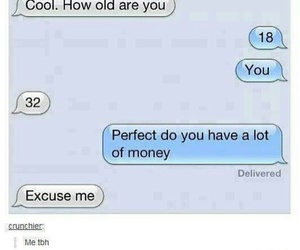 funny, money, and text image
