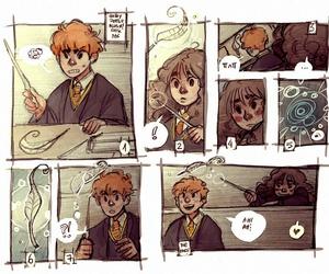 fan art, hermione granger, and ron weasley image