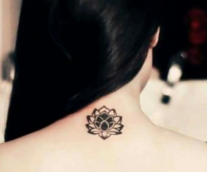tattoo, flower, and tatoo image