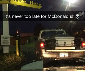 funny, Late, and McDonald's image