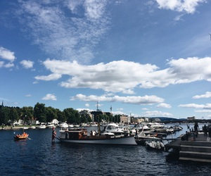 boats, summer, and norway image