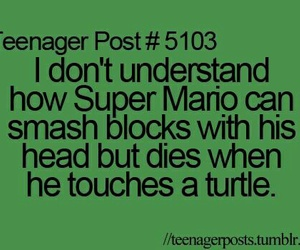 funny, super mario, and teenager post image