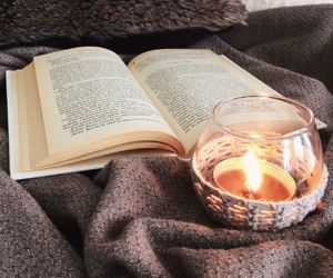 cozy, book, and candle image