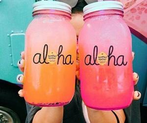 Aloha, colorful, and drinks image
