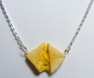 necklace, cheese, and food image