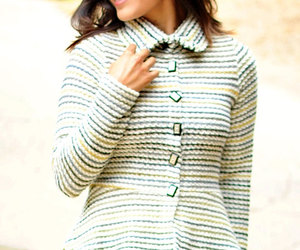 cardigan sweater, etsy, and sweater with collar image