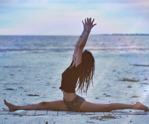 beach, fitness, and split image