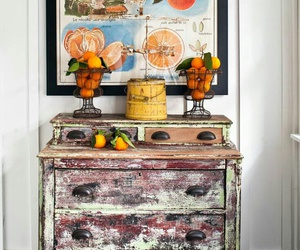 dresser, home decor, and rustic image