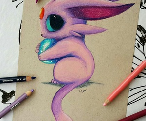 pokemon, drawing, and pink image