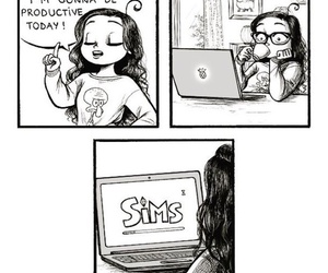 sims, funny, and comic image