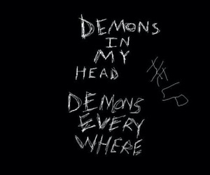 demon, sad, and depressed image