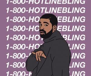 Drake, hotlinebling, and hotline bling image