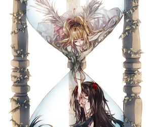 anime, angel, and hourglass image
