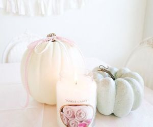 pumpkin, candle, and vintage image