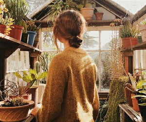 girl, plants, and Best image