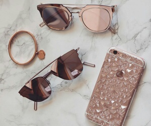 iphone, sunglasses, and pink image