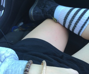 doc martens, high socks, and gold image