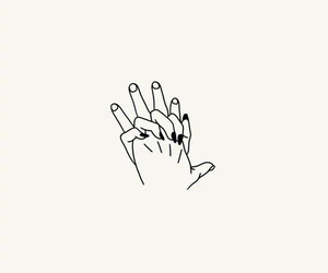 drawing, hands, and hold image