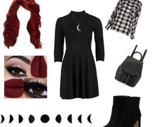 goth, moon, and outfit image