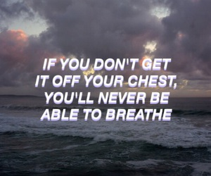 anxiety, breakup, and breathe image