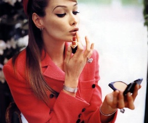 red, lipstick, and make-up image