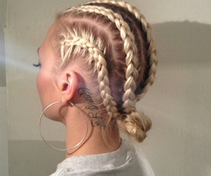 braid, hair, and tattoo image