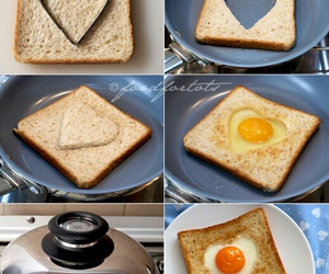 heart, egg, and breakfast image