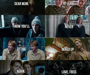 harry potter, fred weasley, and book image