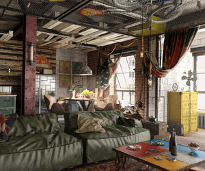home, industrial, and interior image