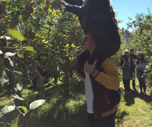 apple, couple, and fall image