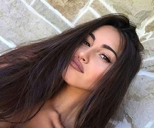 brunette, makeup, and vogue image