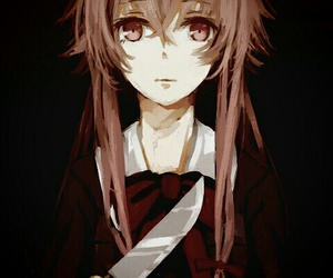mirai nikki, anime, and yuno image