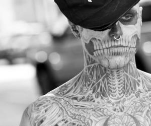 tattoo, boy, and rick genest image
