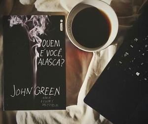books, coffe, and john green image