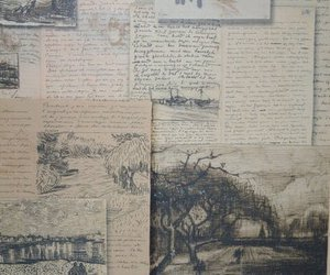 art, letters, and vintage image