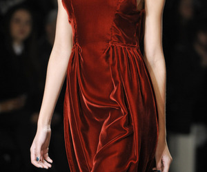 runway, fashion, and red image