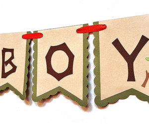 etsy, birthday banner, and woodland theme image