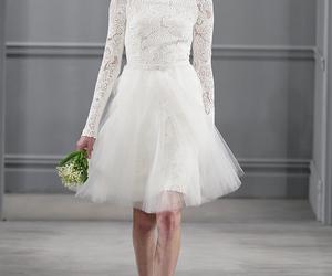 fashion, short, and wedding dress image